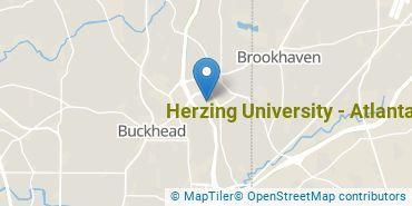 Location of Herzing University - Atlanta