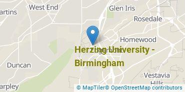 Location of Herzing University - Birmingham