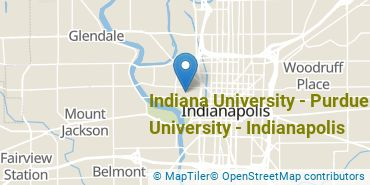 Location of Indiana University - Purdue University - Indianapolis