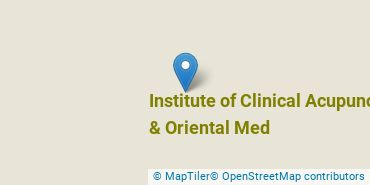 Location of Institute of Clinical Acupuncture & Oriental Med