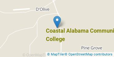Location of Coastal Alabama Community College