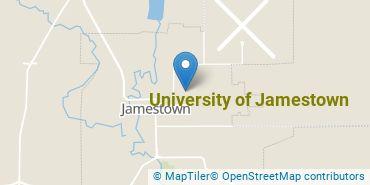 Location of University of Jamestown