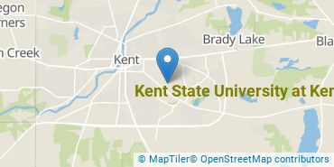Location of Kent State University at Kent