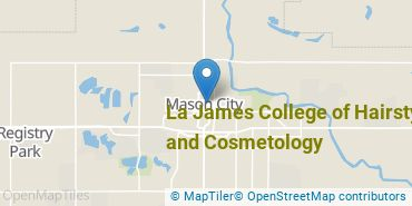 Location of La James College of Hairstyling and Cosmetology