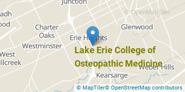 Location of Lake Erie College of Osteopathic Medicine