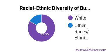 Racial-Ethnic Diversity of Business Support & Assistant Services Majors at Lane Community College