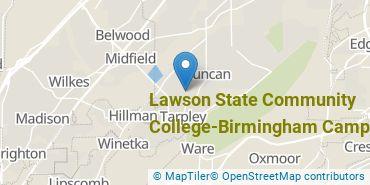 Location of Lawson State Community College - Birmingham Campus