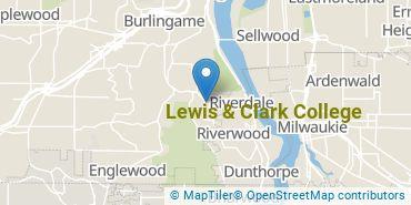 Location of Lewis & Clark College