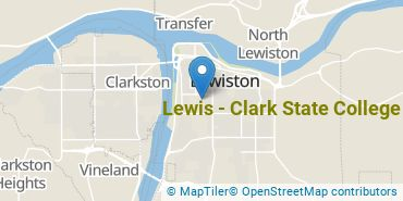 Location of Lewis - Clark State College