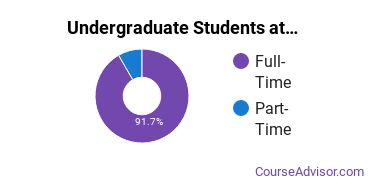 Full-Time vs. Part-Time Undergraduate Students at  Lindsey Wilson College
