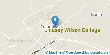 Location of Lindsey Wilson College