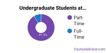Full-Time vs. Part-Time Undergraduate Students at  Linfield OCE