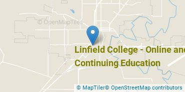 Location of Linfield University - Online and Continuing Education
