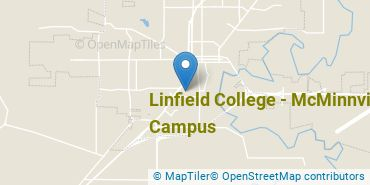 Location of Linfield College - McMinnville Campus
