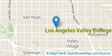 Location of Los Angeles Valley College