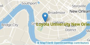 Location of Loyola University New Orleans