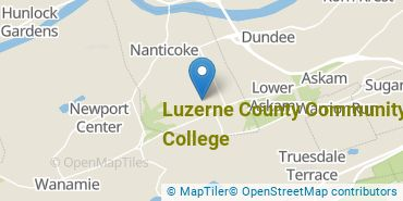 Location of Luzerne County Community College