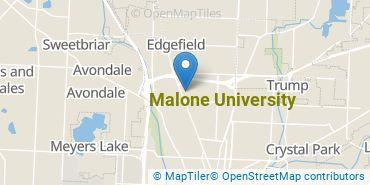 Location of Malone University