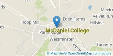 Location of McDaniel College