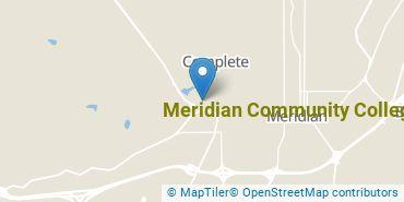 Location of Meridian Community College