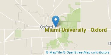 Location of Miami University - Oxford