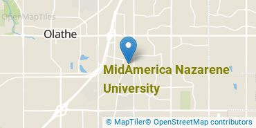 Location of MidAmerica Nazarene University