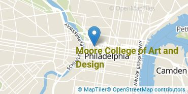 Location of Moore College of Art and Design