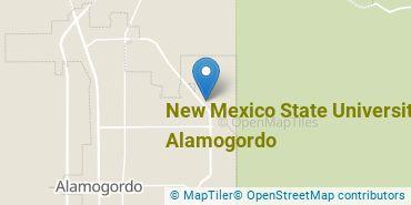 Location of New Mexico State University - Alamogordo
