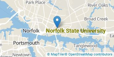 Location of Norfolk State University