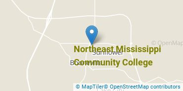 Location of Northeast Mississippi Community College