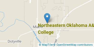 Location of Northeastern Oklahoma A&M College