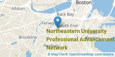 Location of Northeastern University Professional Advancement Network