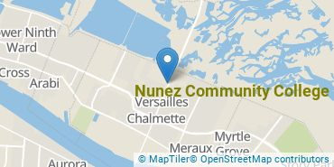 Location of Nunez Community College