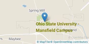 Location of Ohio State University - Mansfield Campus
