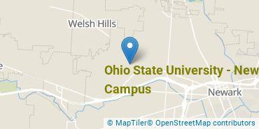 Location of Ohio State University - Newark Campus