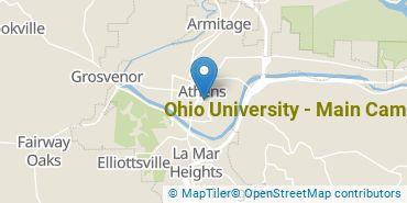 Location of Ohio University - Athens Campus