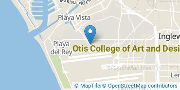 Location of Otis College of Art and Design