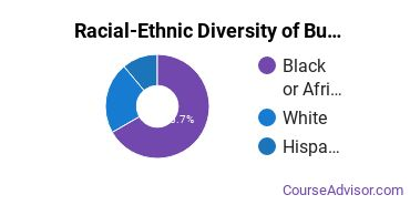 Racial-Ethnic Diversity of Business Administration & Management Majors at University of Holy Cross