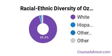 Racial-Ethnic Diversity of Ozarka College Undergraduate Students