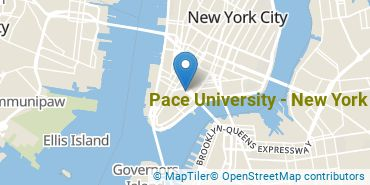 Location of Pace University - New York
