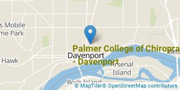 Location of Palmer College of Chiropractic - Davenport