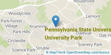 Location of Pennsylvania State University - University Park