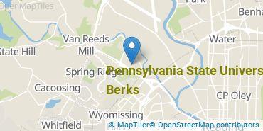 Location of Pennsylvania State University - Berks