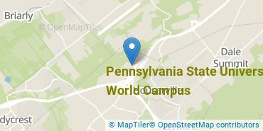 Location of Pennsylvania State University - World Campus