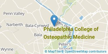 Location of Philadelphia College of Osteopathic Medicine