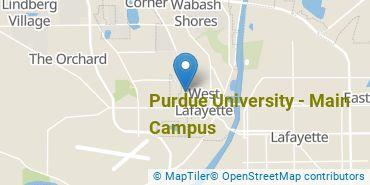Location of Purdue University - Main Campus