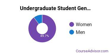 Undergraduate Student Gender Diversity at  Rasmussen University - Wisconsin