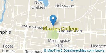 Location of Rhodes College