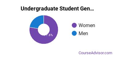 Undergraduate Student Gender Diversity at  Rivier