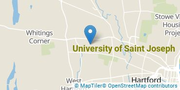 Location of University of Saint Joseph